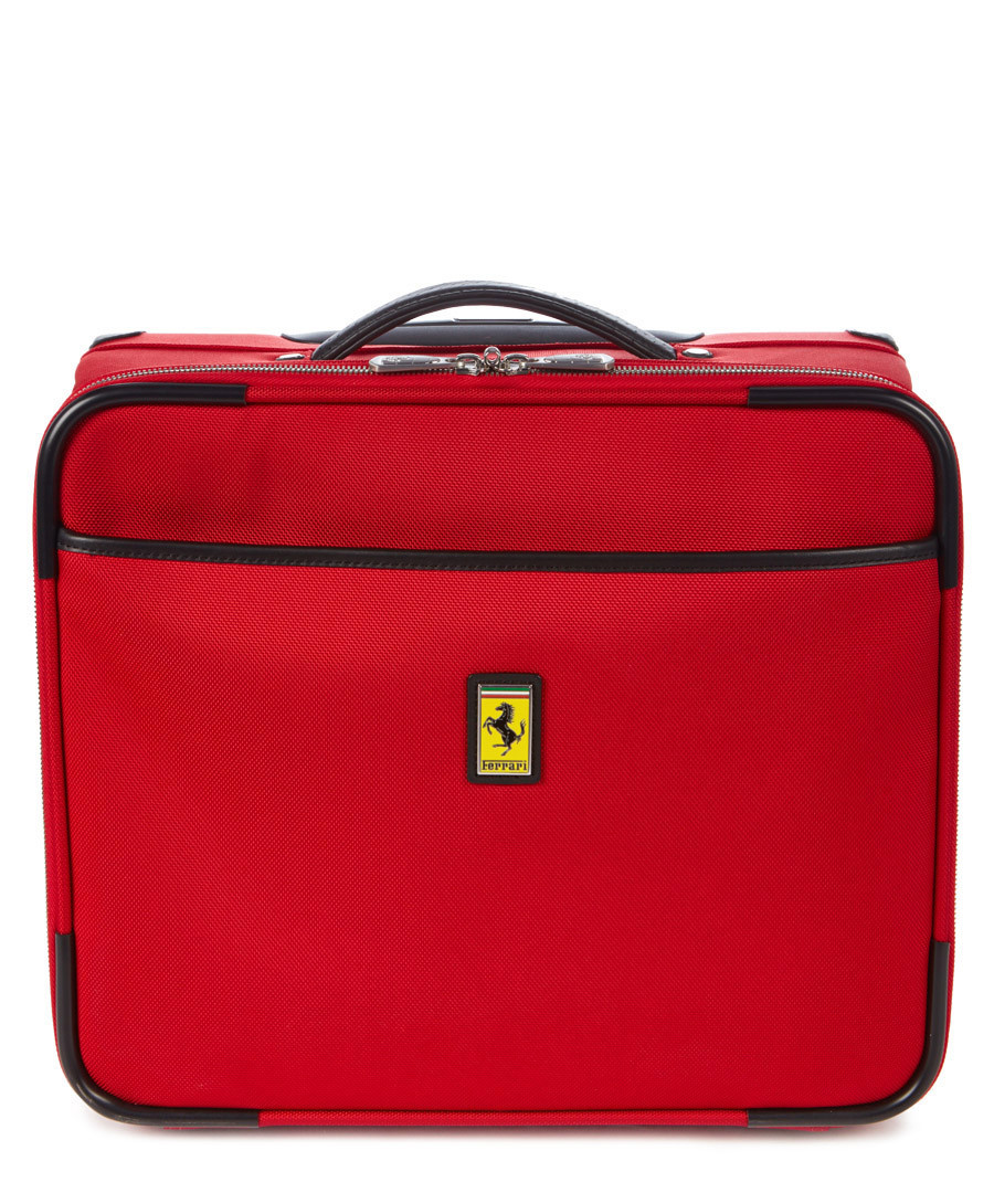red canvas logo trolley case 40cm Sale - Ferrari