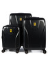3pc black hard shell suitcase set Sale - ferrari Sale