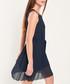 Navy pleated mini dress Sale - dioxide Sale