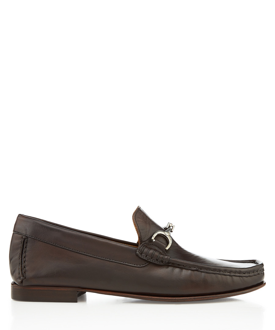 Habary walnut leather horsebit loafers Sale - bruno magli
