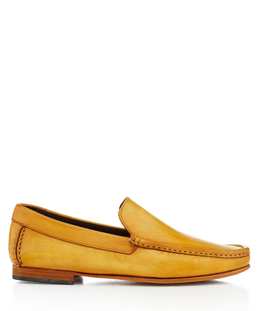 Hato ochre leather loafers Sale - bruno magli