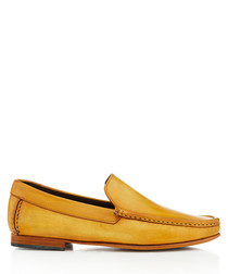 Hato ochre leather loafers