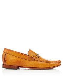Haikou ochre leather loafers