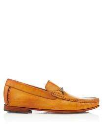 Haikou ochre leather loafers
