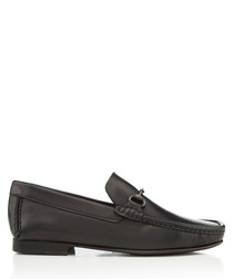 Haikou black leather loafers