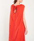 Red ruched neck shift dress Sale - dioxide Sale