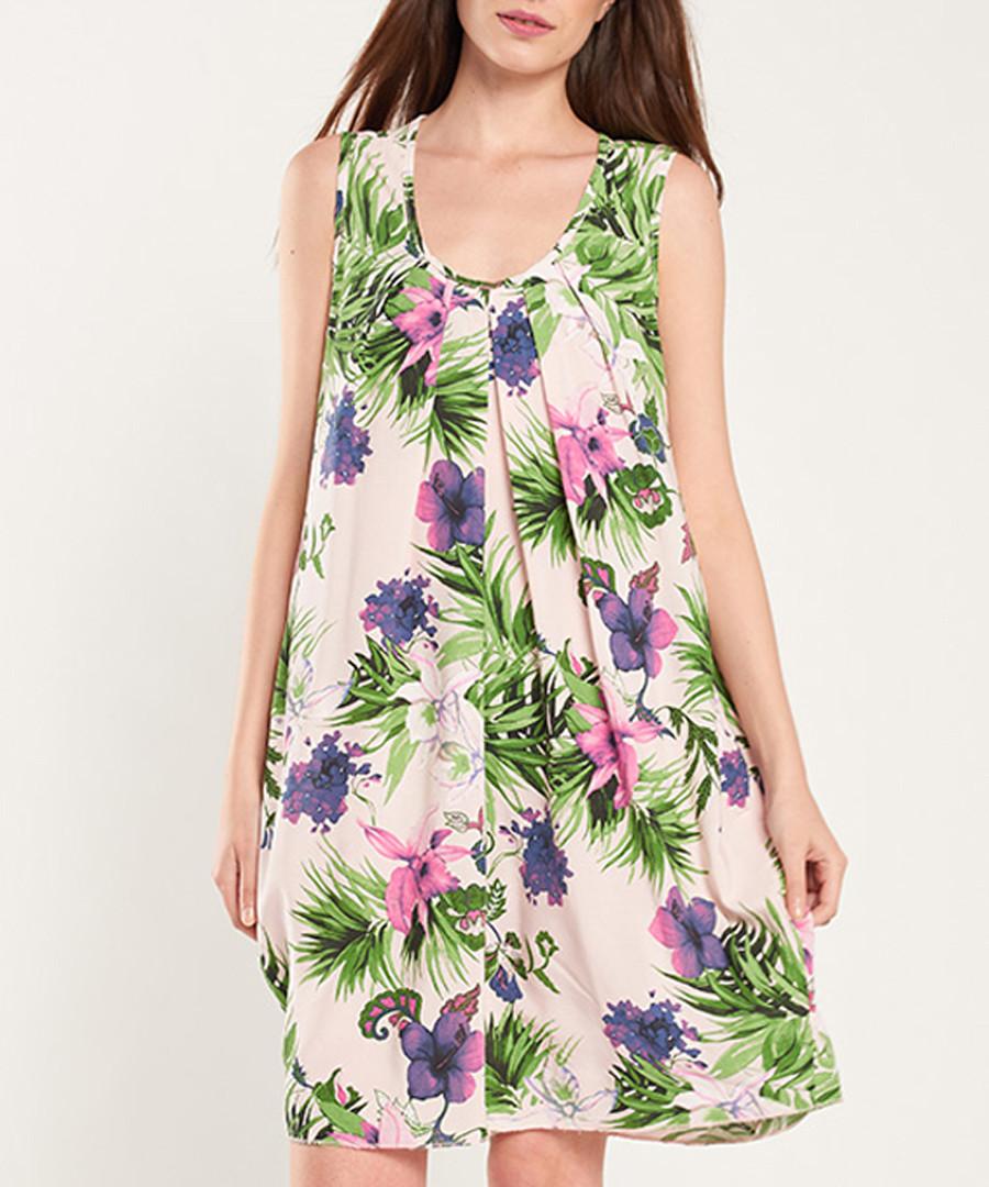 Multi-colour floral print shift dress Sale - dioxide