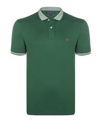 Green pure cotton polo shirt