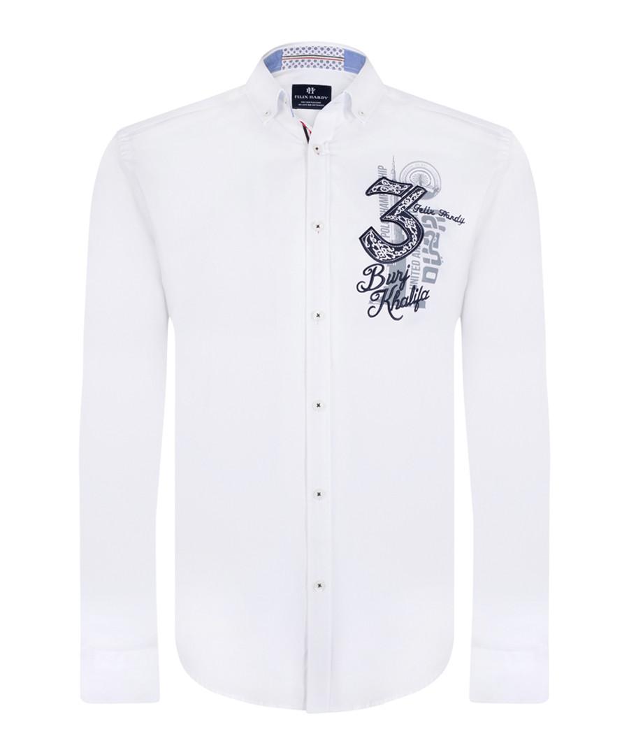 White print pure cotton shirt Sale - felix hardy