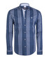 Blue stripe pure cotton shirt Sale - felix hardy Sale