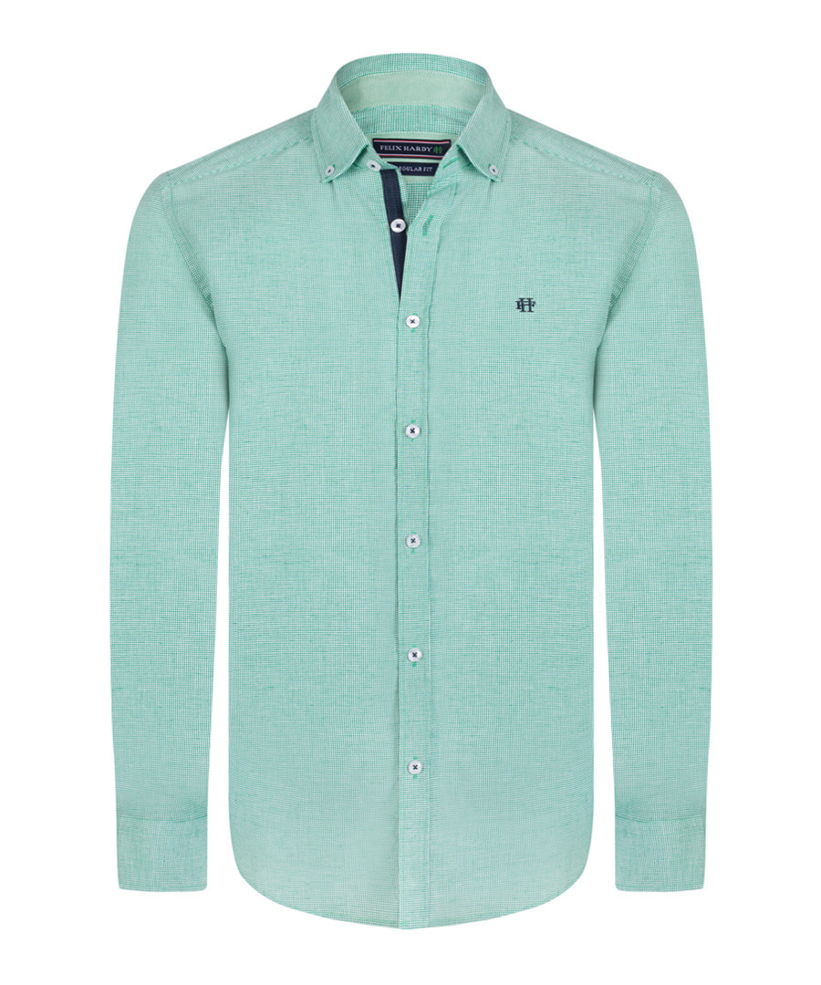 Green pure cotton long sleeve shirt Sale - felix hardy