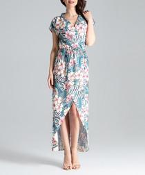 Floral hi-low maxi dress