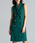 Green double breasted tuxedo dress Sale - lenitif Sale