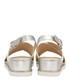 White & silver-tone cross-over sandals Sale - ravel Sale