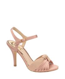 Rose knot peep toe heels