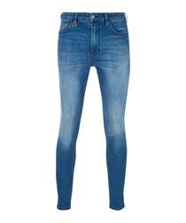 REBEL mid wash cotton skinny jeans