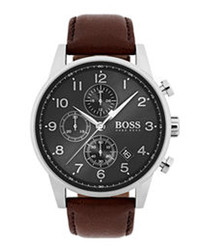 Dark brown & grey dial watch