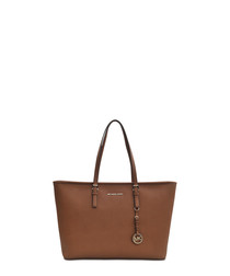 Jet Set Medium brown leather tote