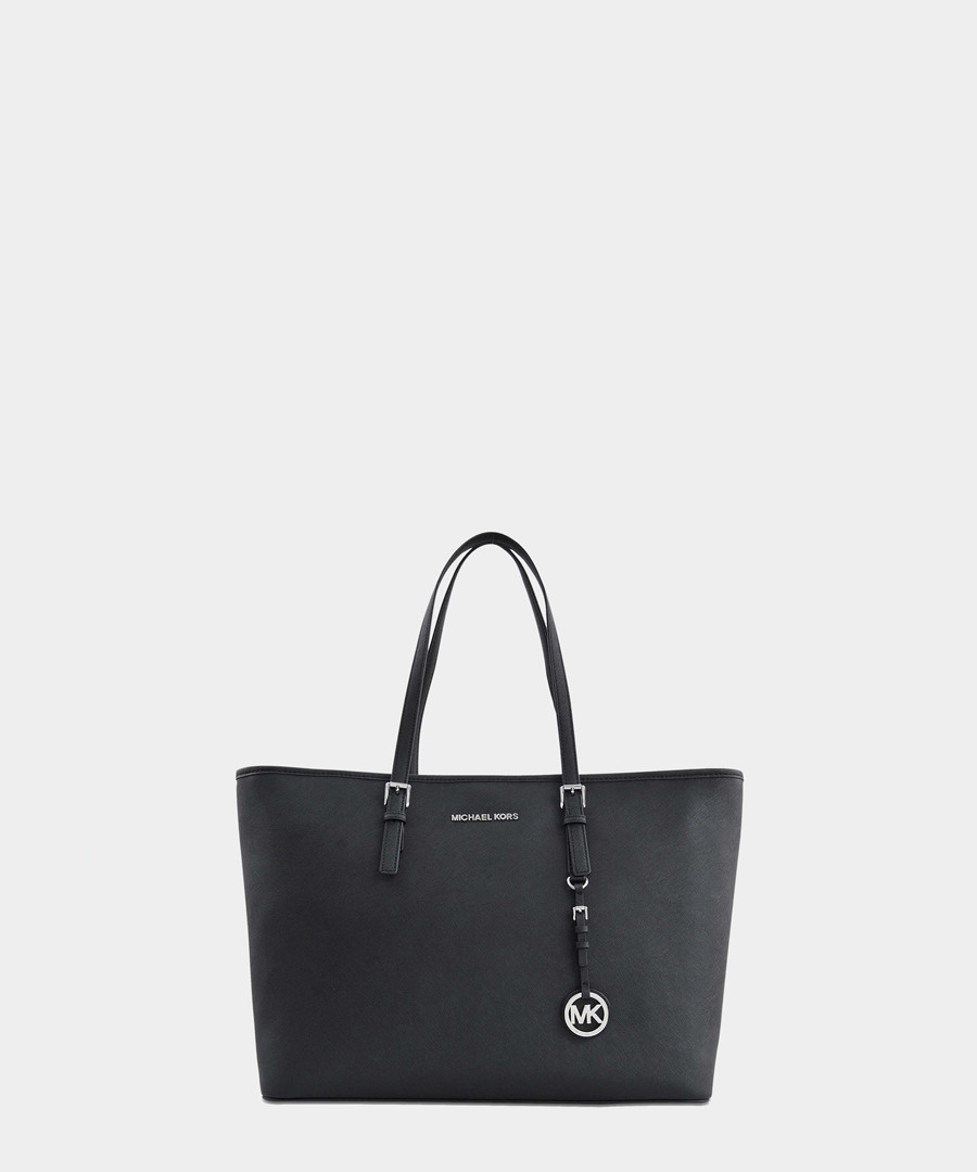 Jet Set Medium black leather tote Sale - michael michael kors
