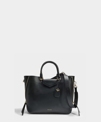 Blakely Large black leather tote