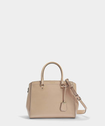 Benning Large beige leather shopper