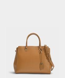 Benning XL brown leather shopper