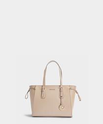 Voyager Medium beige leather tote