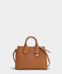 Rollins Large brown leather tote