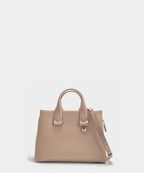 Rollins Large beige leather tote