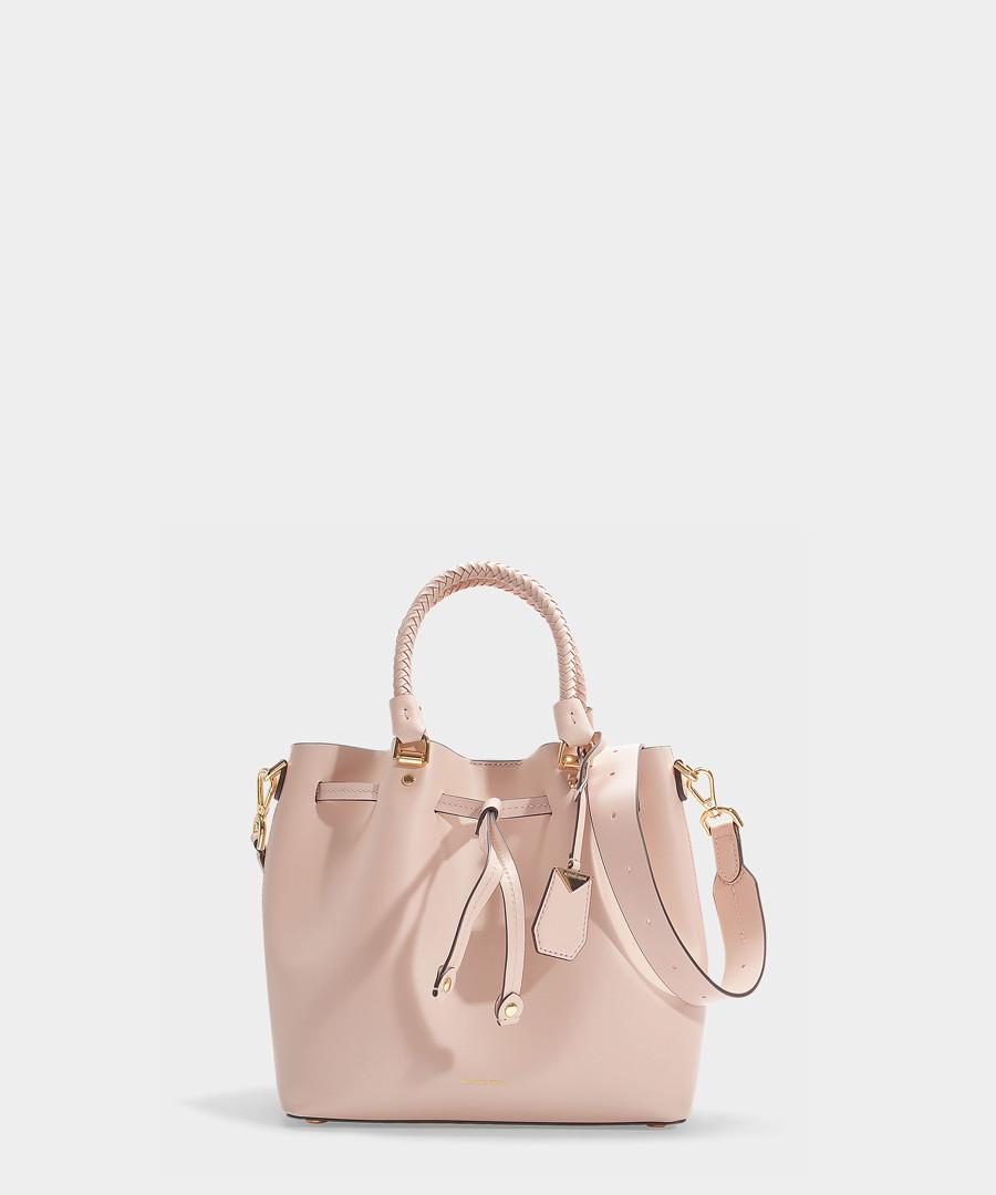 Blakely Medium pink leather bucket bag Sale - michael michael kors