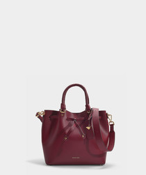 Blakely Medium plum leather bucket bag