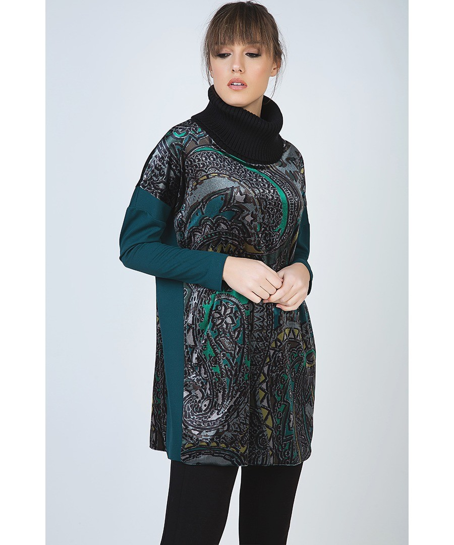 Long Turtleneck Print Top Sale - Conquista