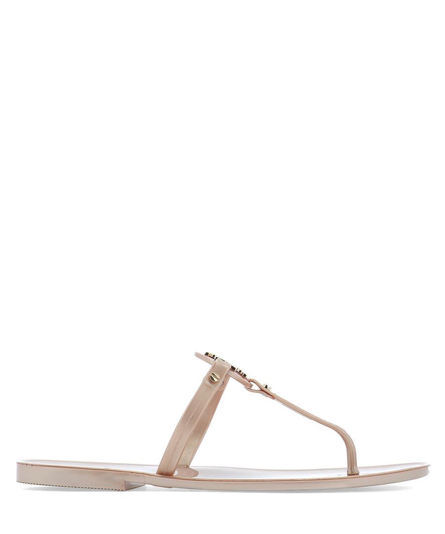 Mini Miller rose gold-tone sandals Sale - tory burch