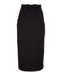 Hemmingway black pure wool pencil skirt