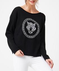 Black graphic tiger jumper