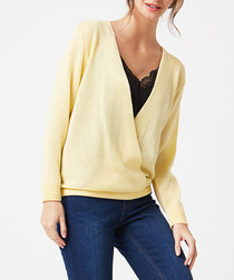 Yellow wrap front jumper