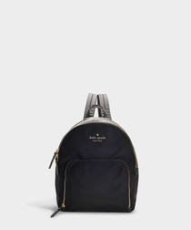 Watson Lane Hartley black nylon backpack