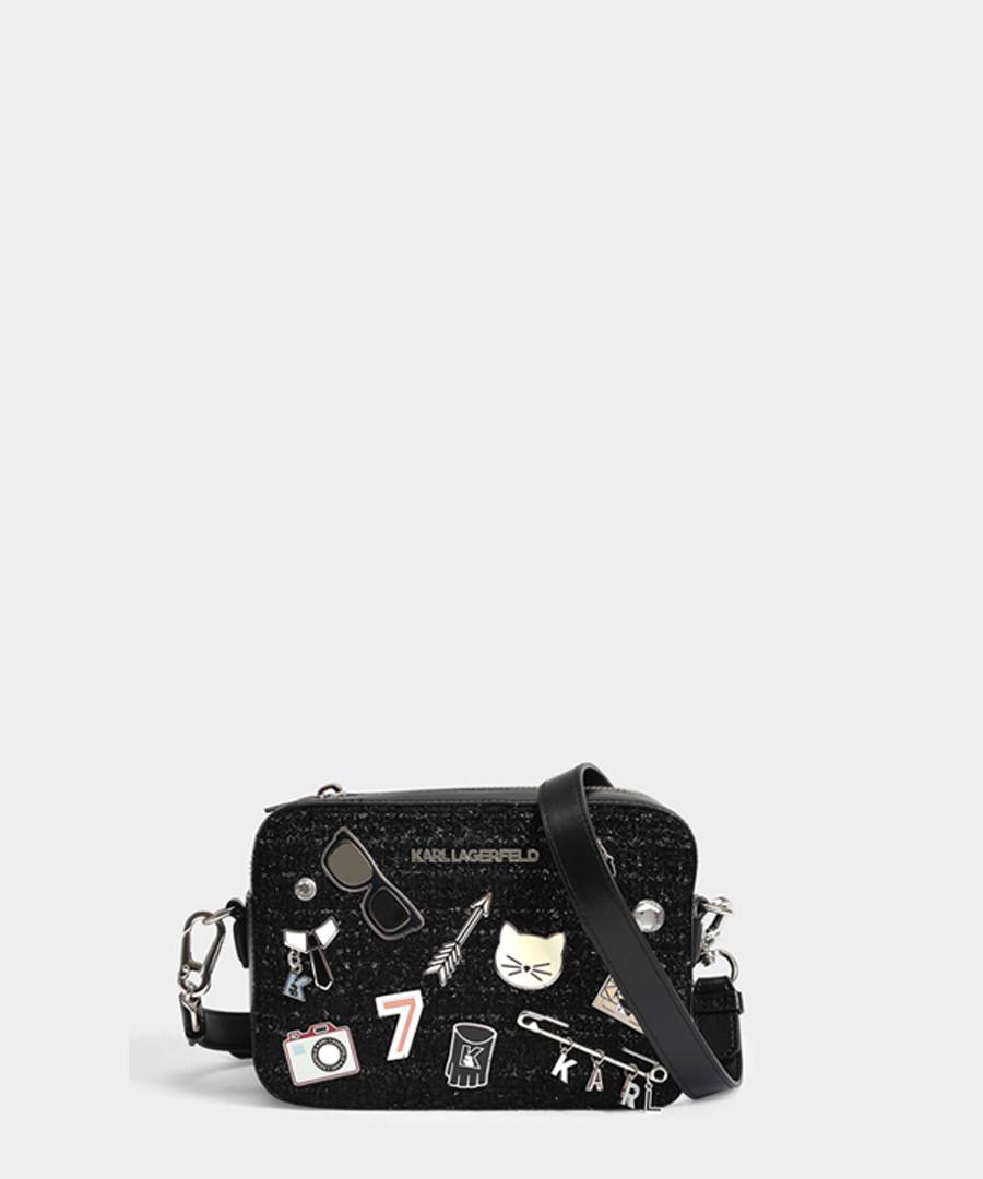 K/Kuilted black embellished camera bag Sale - KARL LAGERFELD