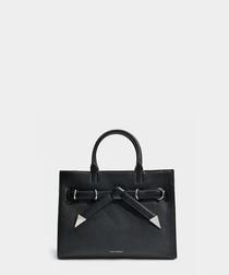 K/Rocky black leather bow shopper