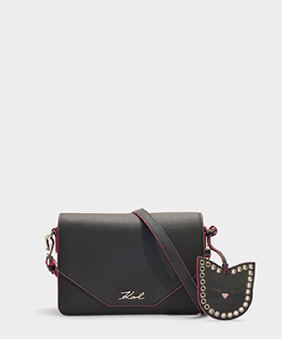 K/Karry black leather shoulder bag Sale - KARL LAGERFELD