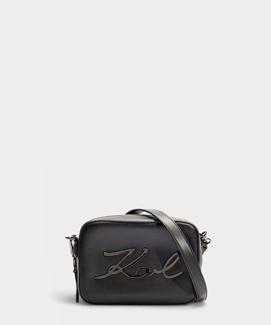 K/Signature black & grey camera bag Sale - KARL LAGERFELD