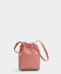 Mini pink calfskin Bucket Bag