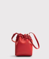 Mini Mini red calfskin Bucket Bag