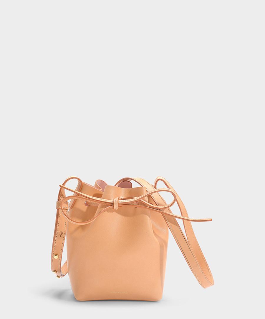 Mini Mini beige calfskin Bucket Bag Sale - Mansur Gavriel