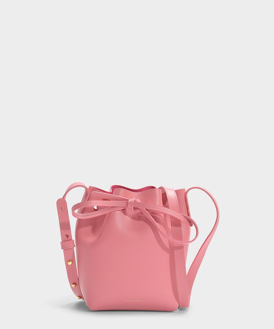 Mini Mini pink calfskin Bucket Bag Sale - Mansur Gavriel