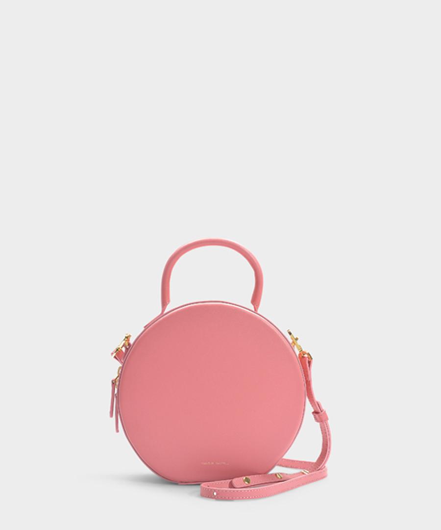 pink calfskin circle crossbody bag  Sale - Mansur Gavriel