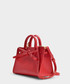 Mini Sun Red Calfskin & canvas grab bag Sale - Mansur Gavriel Sale