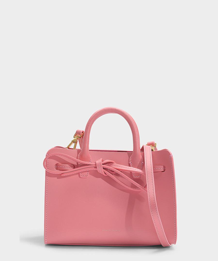 Mini Sun pink Calfskin & canvas grab bag Sale - Mansur Gavriel