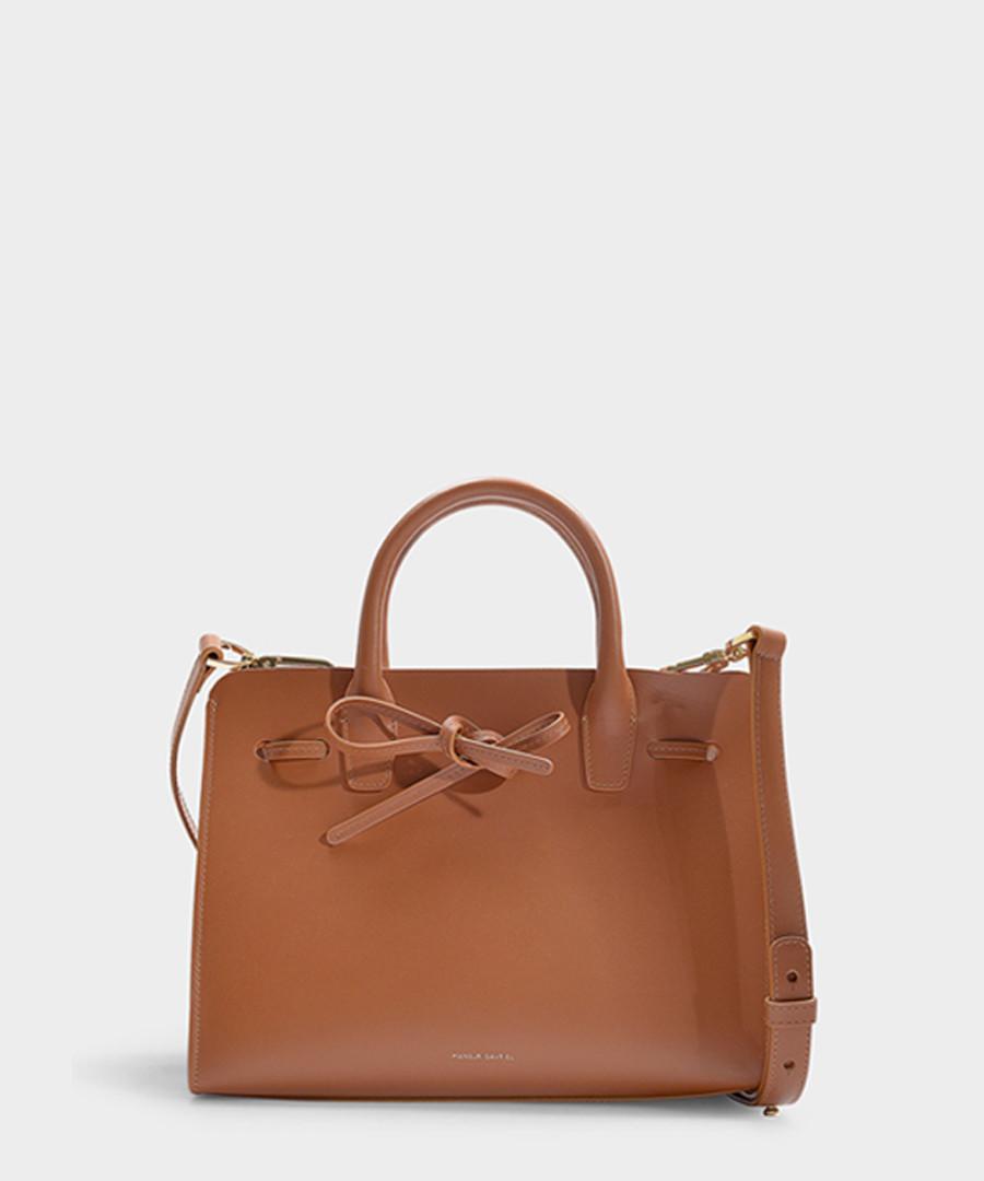 Mini Sun brown Calfskin grab bag Sale - Mansur Gavriel