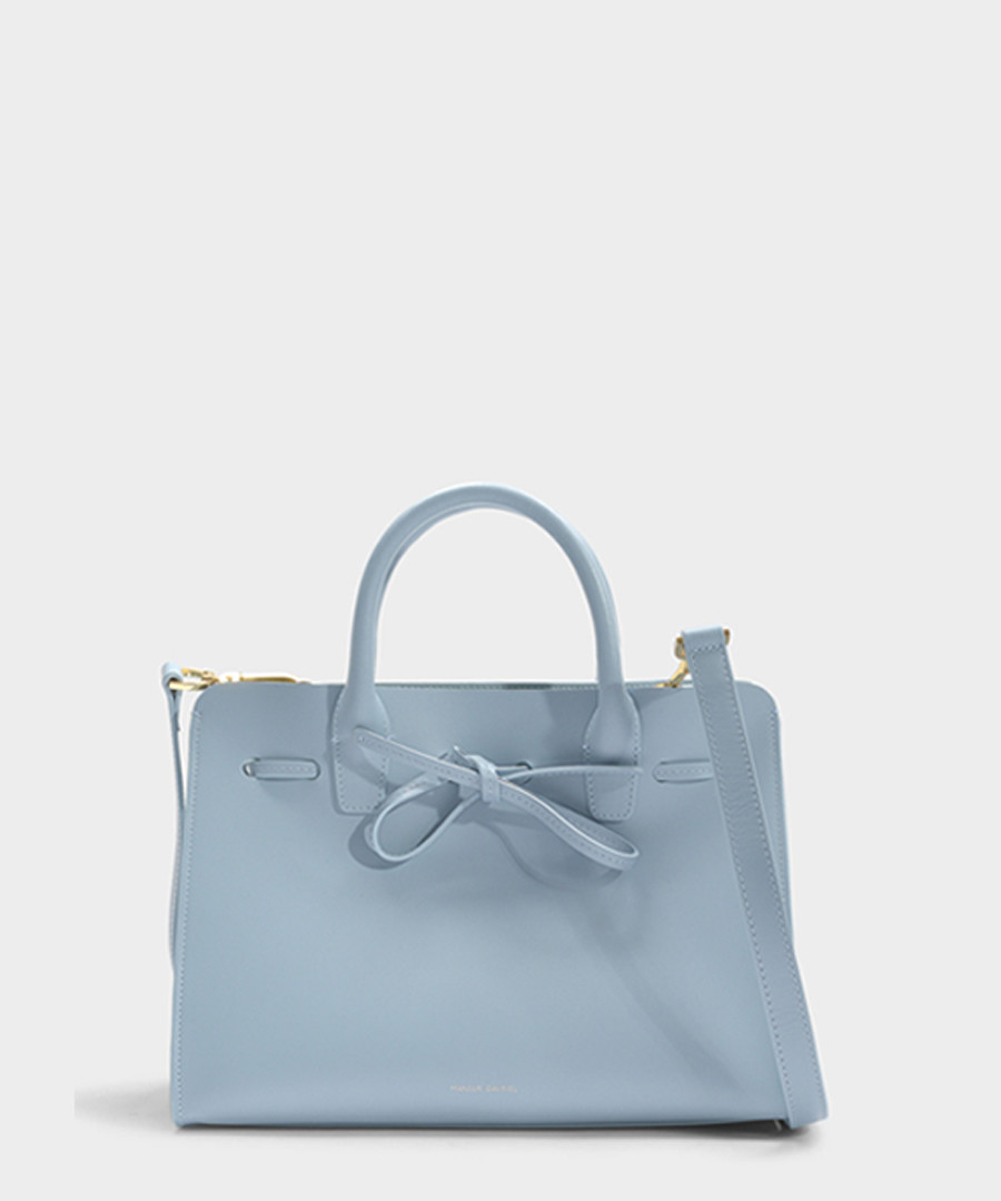 Mini Sun blue Calfskin grab bag Sale - Mansur Gavriel